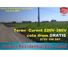 Anunturi Imobiliare Vanzare Teren in Rate direct la Dezvoltator Berceni-Ilfov