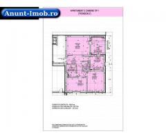 Anunturi Imobiliare Apartament 3 camere tip 1, decomandat, bloc nou