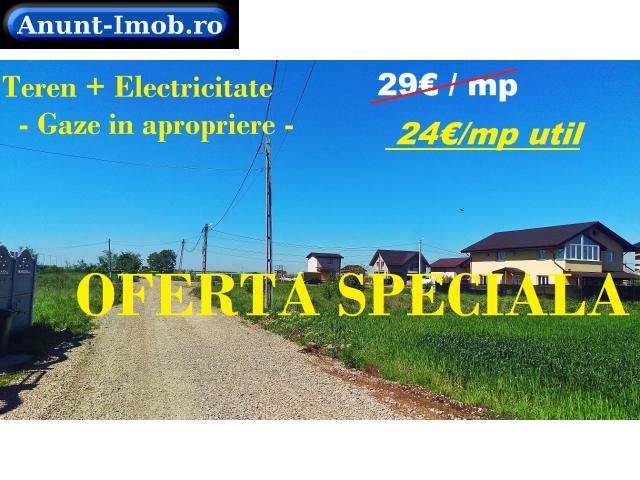 Anunturi Imobiliare TEREN + Curent cartier Vile noi Berceni posib RATE / gaze