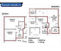 Anunturi Imobiliare Vand apartament 3 camere, mansarda in  Brasov.