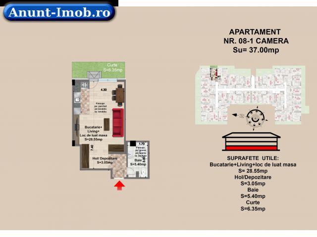 Anunturi Imobiliare Garsoniera, parter, zona Tractorul-Brasov