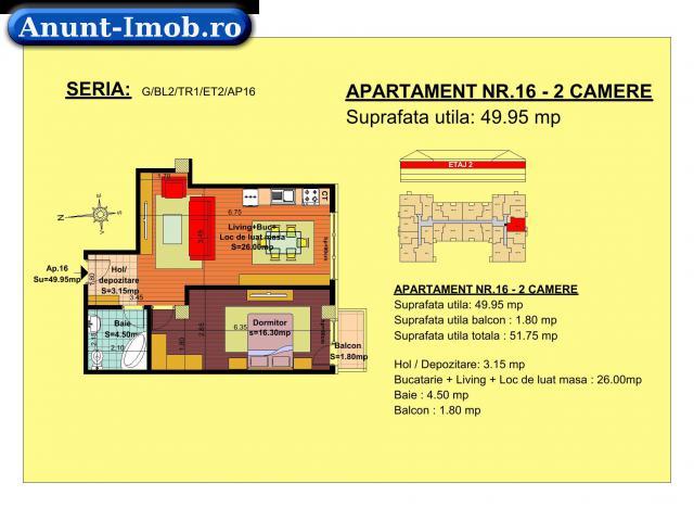Anunturi Imobiliare Apartament 2 camere,  zona Tractorul-Brasov