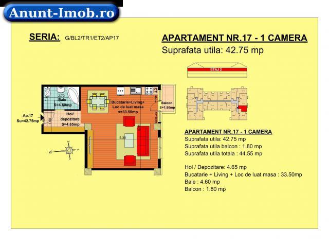 Anunturi Imobiliare Garsoniera, etaj 2, zona Tractorul-Brasov