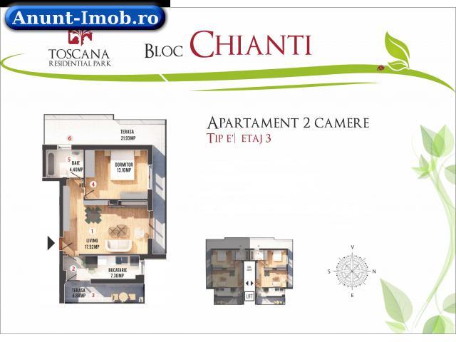 Anunturi Imobiliare Apartament 2 Camere Toscana Otopeni 2 Ani GARANTIE