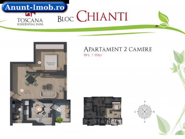 Anunturi Imobiliare Apartament 2 camere Otopeni Toscana Residencial 2 ani Garant