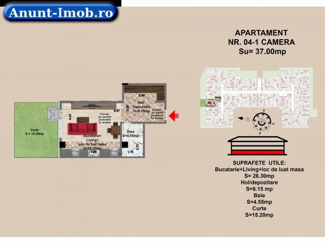 Anunturi Imobiliare Garsoniera de vanzare in Brasov, mall Coresi, 2017