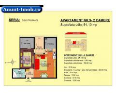 Anunturi Imobiliare 2 camere, str Nicolae Labis nr 52- pret: 48160 Euro, 54.10 m