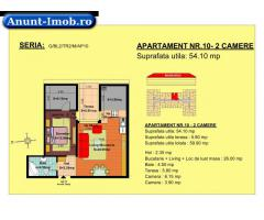 Anunturi Imobiliare 2 camere, str Nicolae Labis nr 52- pret: 47920 Euro, 54.10 m