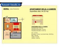 2 camere, str Nicolae Labis nr 52- pret: 41880 Euro, 44.25 m