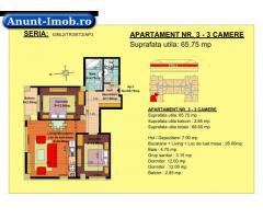 Anunturi Imobiliare 3 camere, str Nicolae Labis nr 52- pret: 54880  Euro, 65.7