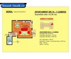 Anunturi Imobiliare garsoniera, str Nicolae Labis nr 52- pret: 37040 Euro, 43.90