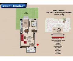 2 camere, str Nicolae Labis nr 52- prêt 49915Euro,  58.5 mp