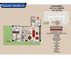 2 camere, str Nicolae Labis nr 52- prêt: 64950 Euro, 63.2 mp