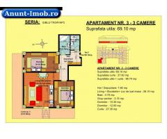Anunturi Imobiliare 3 camere, str Nicolae Labis nr 52- pret: 67210 Euro, 69.10 m
