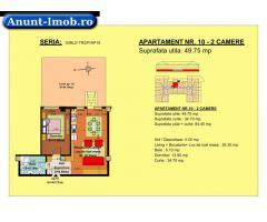 Anunturi Imobiliare 2 camere, str Nicolae Labis nr 52- pret: 51215 Euro, 49.75 m