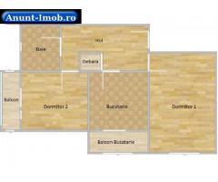 Anunturi Imobiliare Particular vand apartament 2 camere +mansarda, etaj 4/4 supr